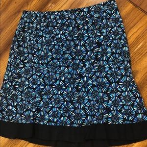 Dresses & Skirts - Blue floral cotton stretch skirt size 16W